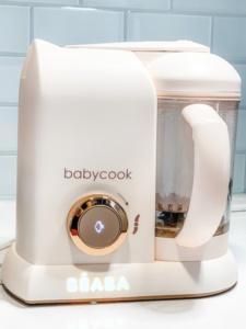 Beaba Babycook machine cooking meat